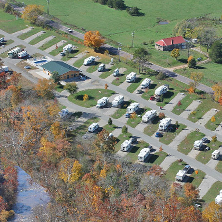 Overhead View of Big Creek RV Park